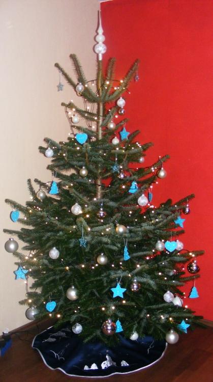 bastelecke weihnachts deko 2012 t rkis silber kikis. Black Bedroom Furniture Sets. Home Design Ideas