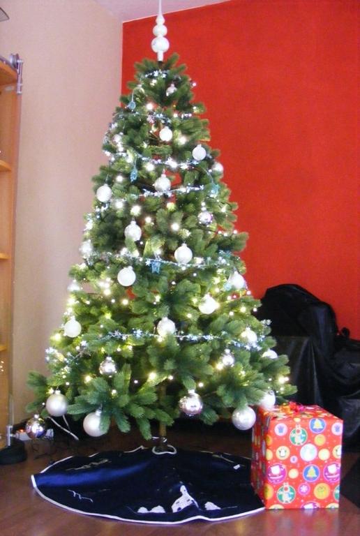 Weihnachtsbaum silber turkis